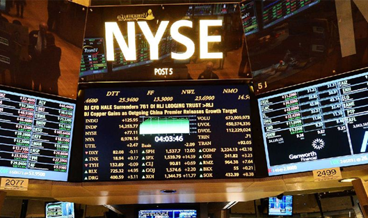 Company shares on the New York Stock Exchange