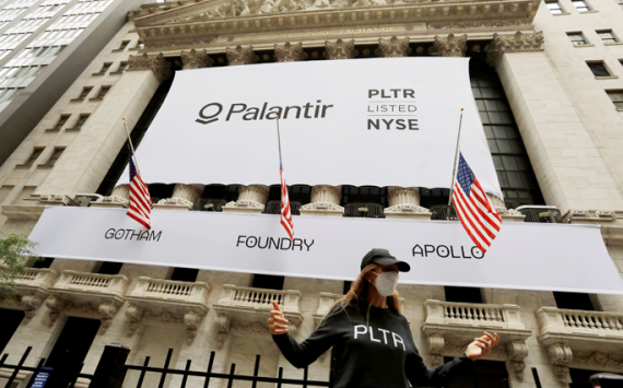 Palantir shares increased by 20%