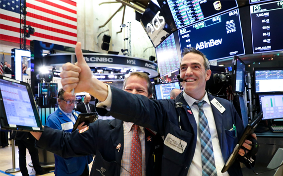 U.S. stock market ended year higher